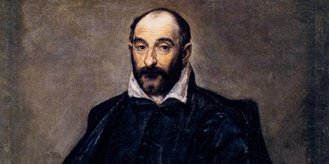 Portrait of a man (Andrea Palladio) by El Greco, 1575. Detail. Statens Museum for Kunst, Copenhagen.