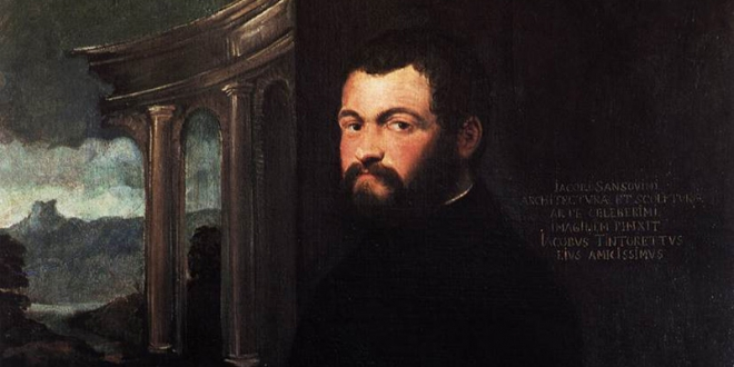 Portrait of Jacopo Sansovino by Tintoretto. Detail. Galleria degli Uffizi, Florence.